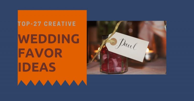 Top-27 Creative wedding favor ideas