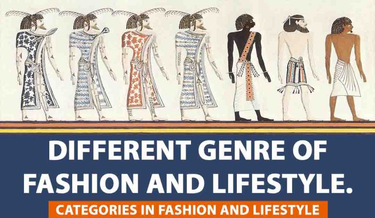 Different genre of fashion and lifestyle