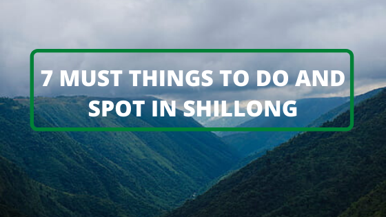7 MUST THINGS TO DO AND SPOT IN SHILLONG