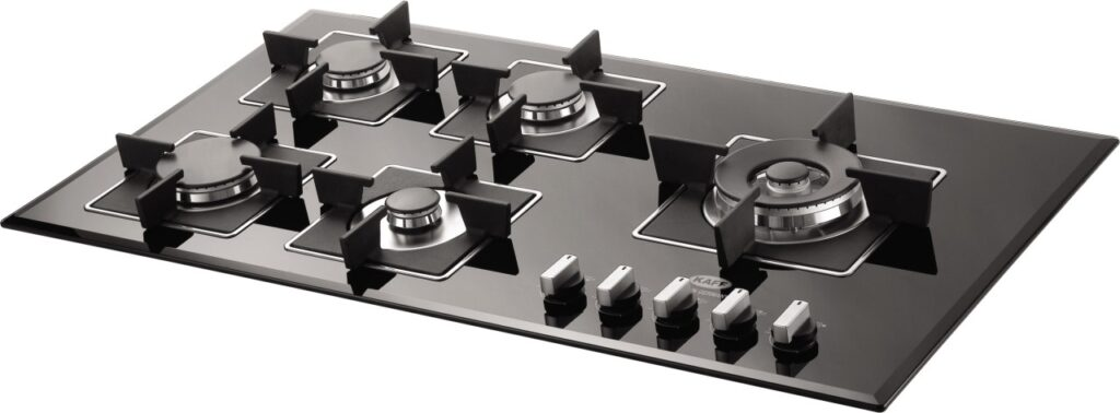 the image of Kaff KHNY 90 Glass Automatic Hob with five Burners